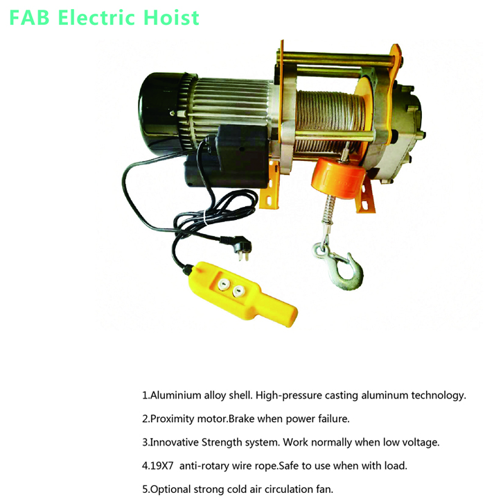 FAB Electric Hoist-Electric wire rope hoist-JNDO official website